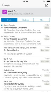 Outlook comes to iOS and Android