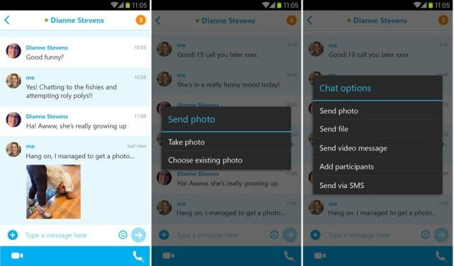 Skype for Android now supports sending photos offline