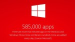The number of applications for Windows Phone has reached 385,000