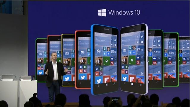 MWC 2015: Microsoft talked about Windows 10 for smartphones