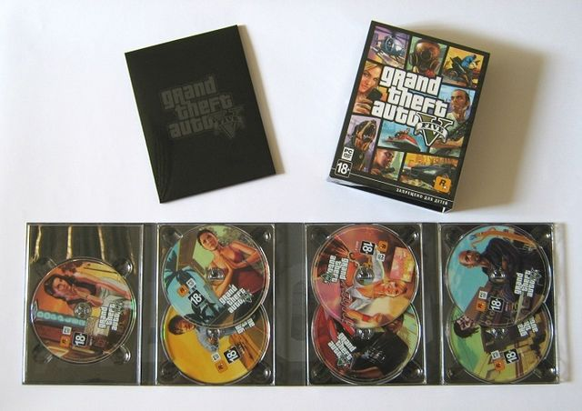 Physical PC-version of Grand Theft Auto V was placed on the seven DVD