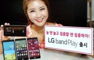 LG announced a smartphone Band Play for music lovers