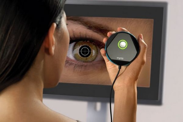 Personal devices to scan the iris of the eye