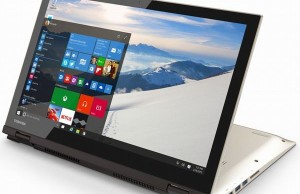 Laptop Toshiba Satellite Fusion is equipped with swivel screen