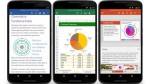 Word, PowerPoint and Excel are available for Android smartphone