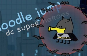Doodle Jump DC Super Heroes - another ironic setting for Batman