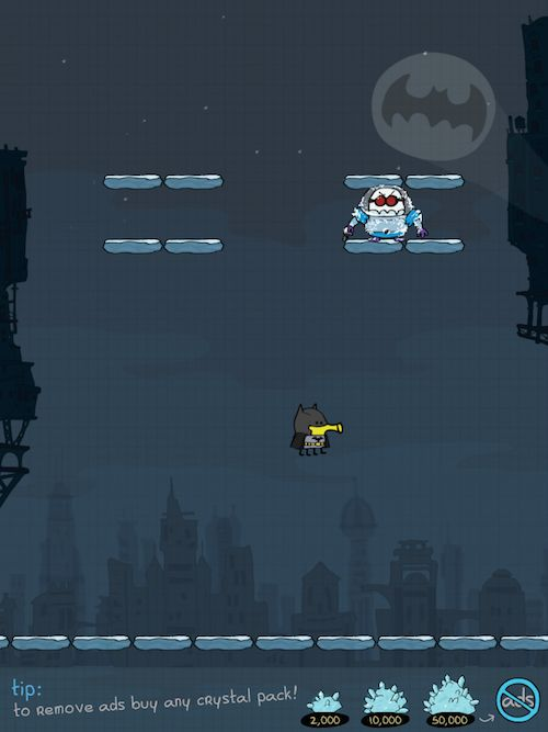 Doodle Jump Dc Super Heroes Another Ironic Setting For Batman
