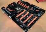 Future motherboard Gigabyte Z170-SOC Force poses for the camera