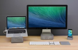 Massive Lift: Concrete Stand for Apple Thunderbolt Display