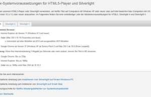 In Microsoft Edge will not Silverlight
