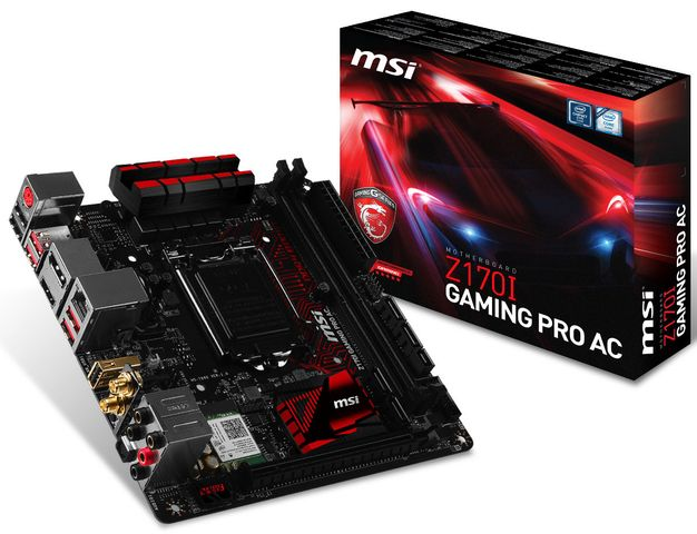 MSI launches the compact premium fee Z170I Gaming Pro AC WiFi-enabled