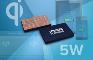 Toshiba has introduced an integrated circuit receiver wireless electromagnetic charging for fast charging of mobile devices