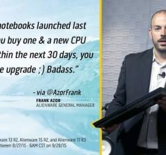 Alienware equips notebooks processors Skylake