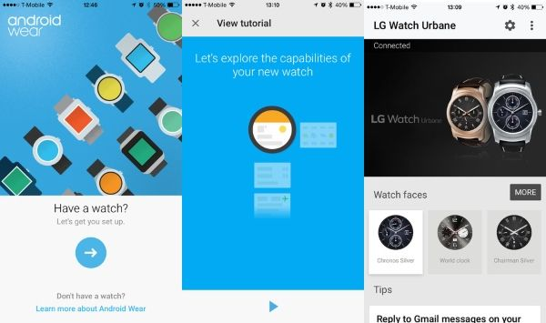 Google released Android Wear for iOS
