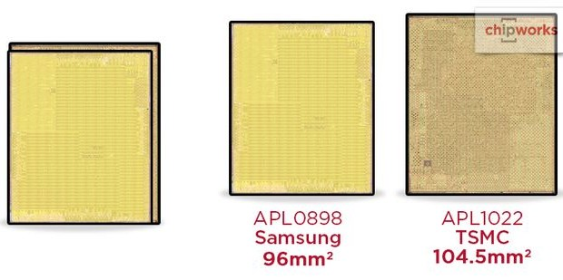 SoC A9 iPhone 6s made in TSMC and Samsung
