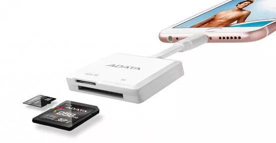 Data Lightning Card Reader allows iOS devices use memory cards