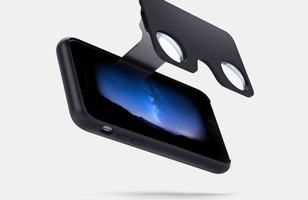 Figment VR Case for iPhone is equipped with a virtual reality glasses